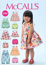 McCall's 6944 Easy Sewing Pattern to MAKE Toddlers' Top Dress Romper 6mths-4yrs