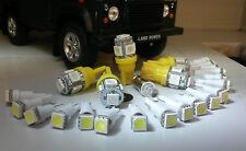 Land Rover Defender 90/110 TDI Instruments Clock & ALL warning lights LED Yellow
