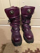 New Rock Purple Boots Size 7 Grunge Punk Goth Emo