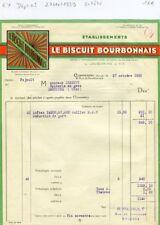 Dépt 03 - Commentry 6 Rue du Bourbonnais - Entête Le Biscuit Bourbonnais de 1939