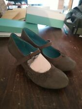 Moshulu Leather moss green mary jane 'SALSA' Shoes Size UK 5/38 vintage