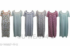 LADIES MARKS AND SPENCERS M&S JERSEY NIGHTDRESS NIGHTIES 9 COLOURS