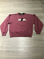 Vintage 80s Funny Fleece Cats Long Sleeve Graphic Crewneck Sweatshirt Womens M