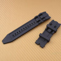 26mm Gummi Uhrband Schwarz Uhrarmband für Invicta Pro Diver Chronograph Uhr Neu