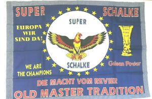 Super Schalke - Fahne Flagge Flag Fussball #550