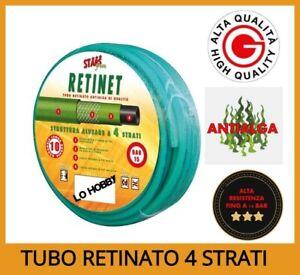 """TUBO 1/2"""" 5/8"""" 3/4"""" ACQUA per IRRIGAZIONE da GIARDINO 4 STRATI verde 15-25-50 mt"""