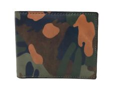 Fossil Men's Surplus Traveler RFID Wallet In Green Camo SML1593335