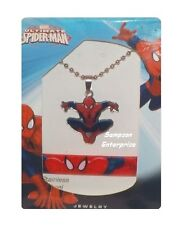 MARVEL SPIDER-MAN PENDANT NECKLACE AND RUBBER BRACELET SET