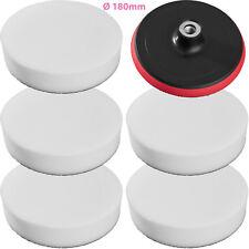 5 éponges de polissage 180mm + disque de rotation pour machine à polir