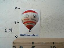 STICKER DECAL, TOYOTA VALKEMA  BALLONCLUB NL LUCHTBALLON BALLOONING AIR