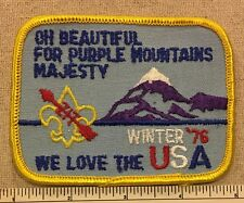 1976 OA Lodge 123 ZIT KALA SHA Winter Activity PATCH Old KY Home Council WWW