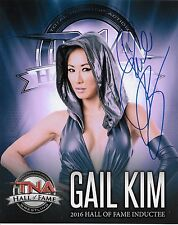 GAIL KIM TNA SIGNED AUTOGRAPH 8X10 HALL OF FAME PHOTO #6 W/ PROOF
