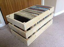 """Handmade en Bois LP/12"""" record de conservation Caisse/fabriqué à partir de Reclaimed Bois/non peinte"""