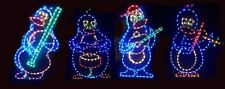 Animated Penguin Band Christmas Outdoor LED Lighted Decoration Steel Wireframe