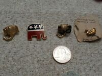 Vintage Collectible Pin Republican Elephant Great Design LOT OF 4 Fast shipping