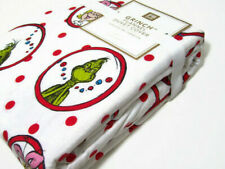 Pottery Barn Teen The Grinch Circle Dot Flannel Cotton Twin Duvet Cover New