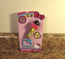Hello Kitty Music Mates Microphone Sounds Backpack Clip NEW