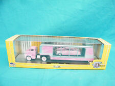 RARE M2 Machine Auto Haulers 1:64 Pink 1956 Ford C-500 & 1949 Mercury Custom