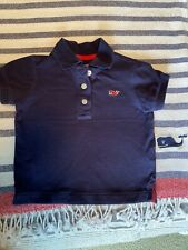 Vineyard Vines Boys 18 Month Navy Blue Red Whale Logo Polo Shirt Short Sleeve
