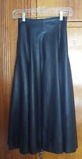 Beautiful! Vintage Black Lined Pleated Marziale Leather Skirt, Made in Italy :)