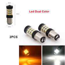 2X Led Dual Color White Amber Switchback LED Turn Signal Light Bulb HID-matching