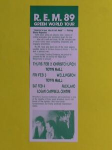 REM 1989 GREEN WORLD TOUR HANDBILL