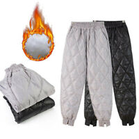 Womens Fashion Puffer Trousers Pants Cotton Padded Quilted Outdoor Winter Warm