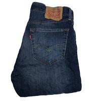 LEVIS 527 Mens Slim Stretch Bootcut W30 L34 Dark Blue Denim Jeans (M908)