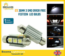 2x 36mm 3 SMD LED 239 C5W Canbus NO ERROR BMW 3 Series E30 E36 E46 E90 E92 Bulbs
