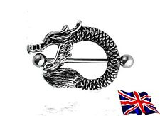 Surgical Steel Dragon Nipple Shield Bar Ring gothic punk funky bar ring gift  UK