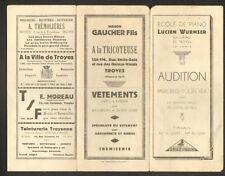 "TROYES (10) ECOLE DE PIANO / PROGRAMME D'AUDITION ""Lucien WURMSER"" en 1931"