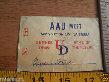 1969 University of Dayton AAU Track and Field Contestants Ticket