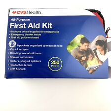 CVS Health All-Purpose First Aid Kit 250 Pieces New in Zipper Bag