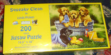 NEW Squeaky Clean by Pinda Pcken Labrador puppy dog 200 pc jigsaw puzzle puppies