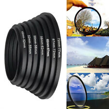7pcs Step Up Lens Filter Ring 52 58 72 67 49mm Adapter Series Set For Cameras