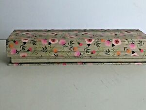 "Ashland Summer Decorative Floral Gift Box Magnetic Closure 10.5""L x 3.75""W x2""T"