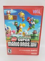 New Super Mario Bros. Wii (Nintendo Wii, 2009) Complete Manual/inserts TESTED