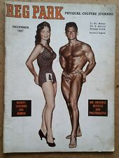 Reg Park Physical Culture Journal - Bodybuilding Magazine December 1957