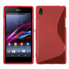 Accessories Case Cover Gel S-LINE TPU S Red sony Xperia Z1 L39H/Z1 Honami