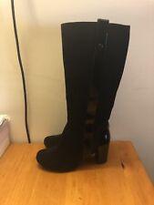 Clarks Ladies Knee Length Black Leather Boots UK 4.5D