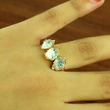 Natural Herkimer Diamond Gemstone Antique Design Stackable Party Fashion Ring