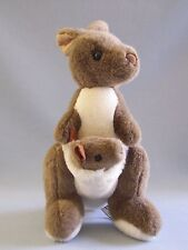 Kangaroo With Joey In Pouch Made In Australia By Windmill Plush Brown 12""