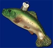 Brook Trout Old World Christmas Glass Nautical Fish Sea Life Ornament Nwt 12393