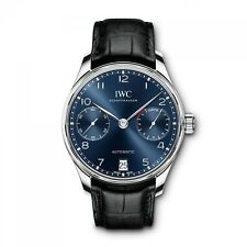 New IWC Portugieser Automatic Steel Automatic 42.3 mm Blue Watch IW500710