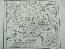 Incisione MAPPA phocide Grecia da Bocage da ANACARSI viaggia 1787