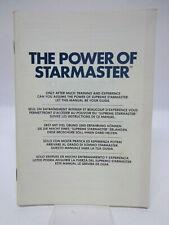 Anleitung - Handbuch - Bedienungsanleitung Atari - The Power of Starmaster