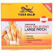 Balsamo di Tigre, alleviare il dolore Patch, TOPPE di grandi dimensioni, 4 (8 x 4 pollici. ogni)