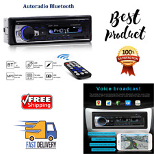 Bluetooth Car Stereo Multimedia Audio Fm Radio Receiver Hands Free Calling