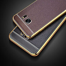 Luxury Ultra-thin Leather Soft TPU Back Case Cover For Samsung Galaxy Models