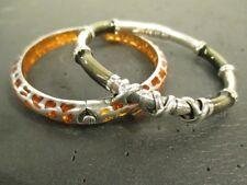 Angelique De Paris Orange Resin Safari Animal Print Bangle & Modital Bracelet